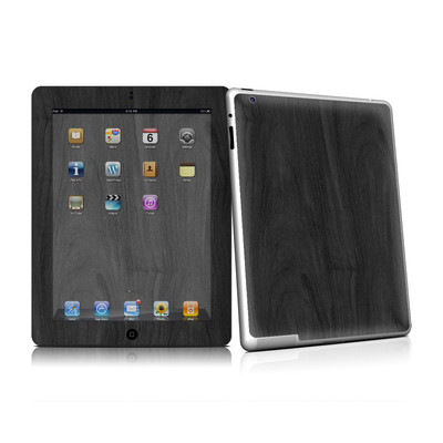 iPad 2 Skin - Black Woodgrain