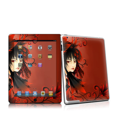 iPad 2 Skin - Black Flower