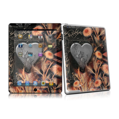 iPad 2 Skin - Black Lace Flower
