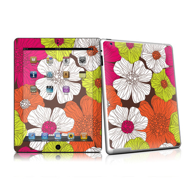 iPad 2 Skin - Brown Flowers