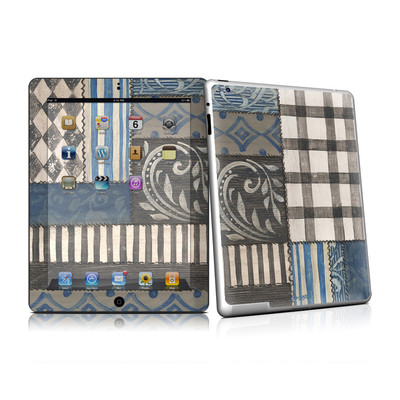 iPad 2 Skin - Country Chic Blue