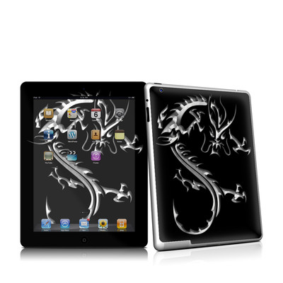 iPad 2 Skin - Chrome Dragon