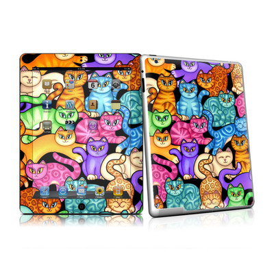 iPad 2 Skin - Colorful Kittens