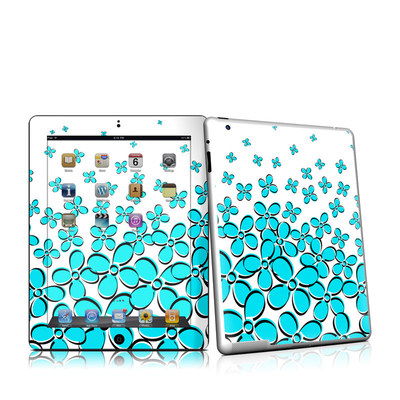 iPad 2 Skin - Daisy Field - Teal