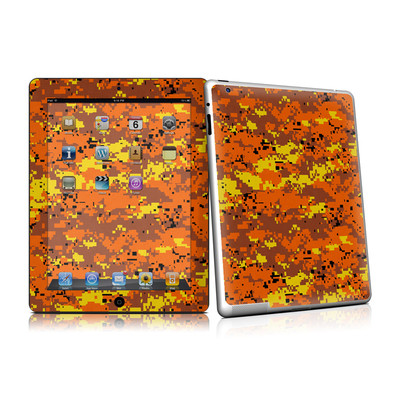 iPad 2 Skin - Digital Orange Camo