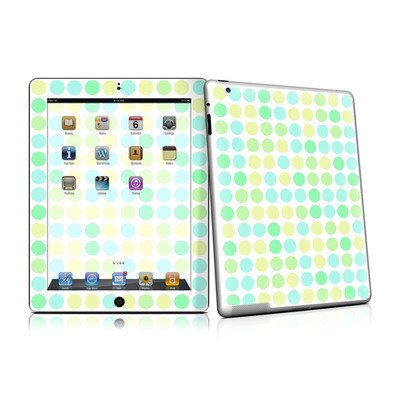 iPad 2 Skin - Big Dots Mint