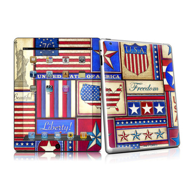 iPad 2 Skin - Flag Patchwork