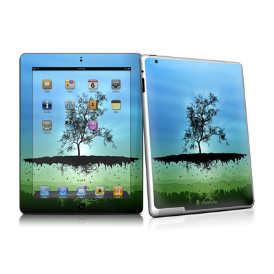 iPad 2 Skin - Flying Tree Blue