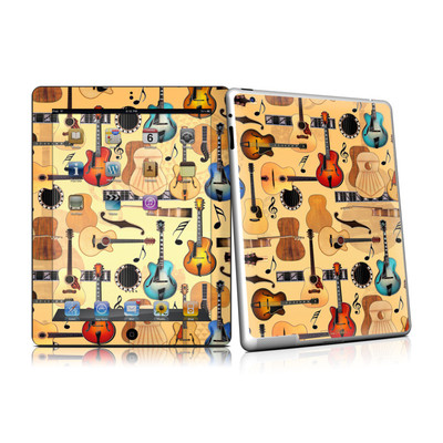 iPad 2 Skin - Guitar Collage