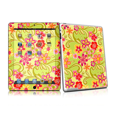 iPad 2 Skin - Hippie Flowers Hot Pink