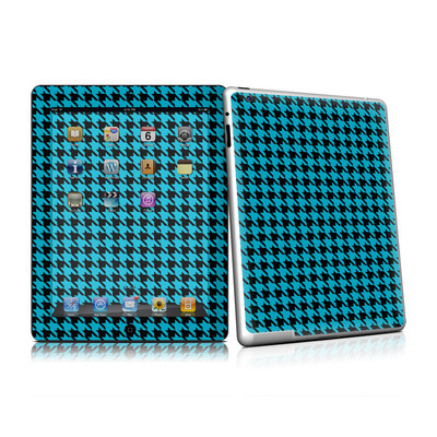 iPad 2 Skin - Teal Houndstooth