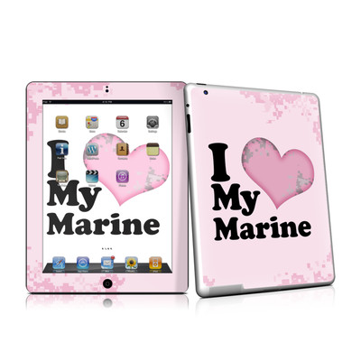iPad 2 Skin - I Love My Marine
