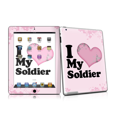 iPad 2 Skin - I Love My Soldier