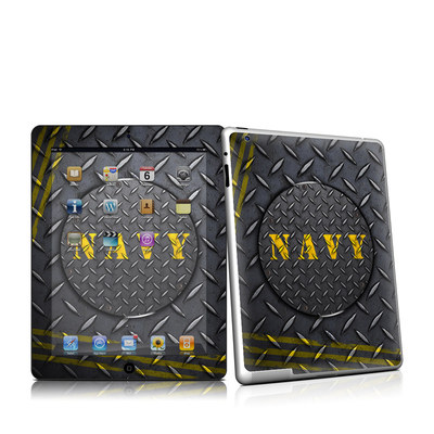 iPad 2 Skin - Navy Diamond Plate