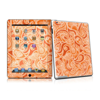 iPad 2 Skin - Paisley In Orange