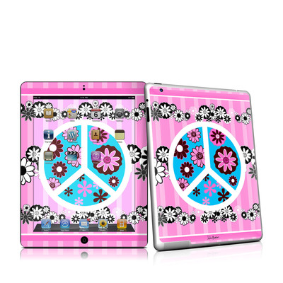 iPad 2 Skin - Peace Flowers Pink