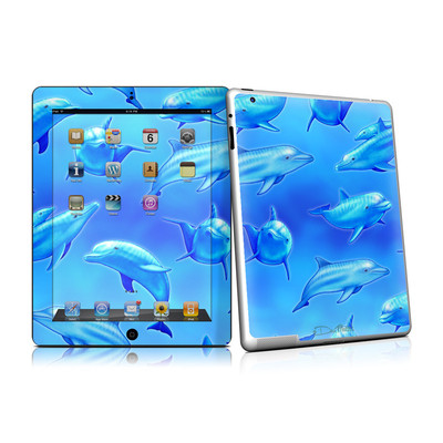 iPad 2 Skin - Swimming Dolphins