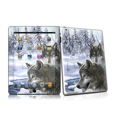 iPad 2 Skin - Snow Wolves