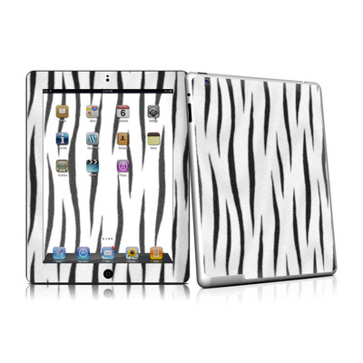iPad 2 Skin - White Tiger Stripes