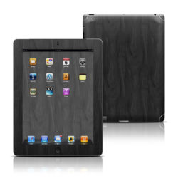 Apple iPad 3 Skin - Black Woodgrain