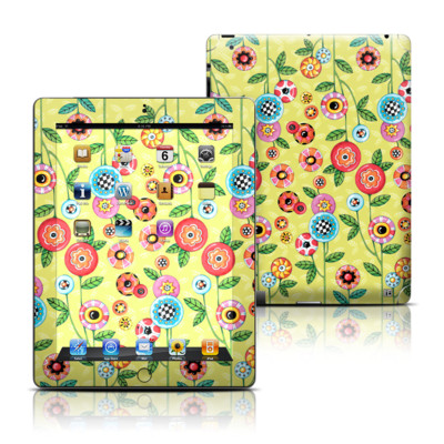 Apple iPad 3 Skin - Button Flowers