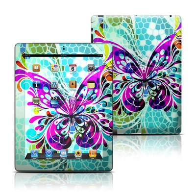 Apple iPad 3 Skin - Butterfly Glass