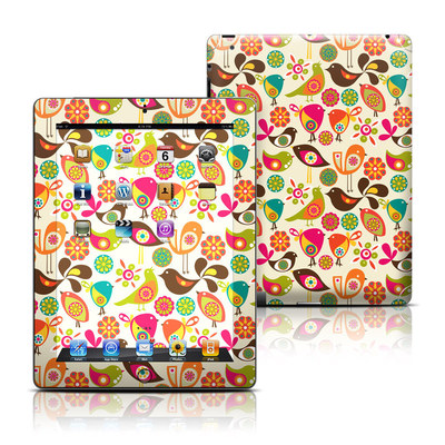 Apple iPad 3 Skin - Bird Flowers