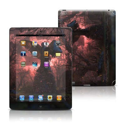 Apple iPad 3 Skin - Black Angel