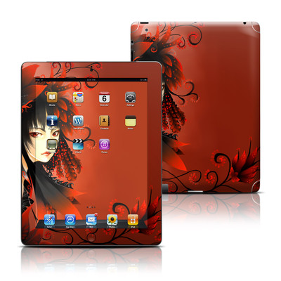 Apple iPad 3 Skin - Black Flower