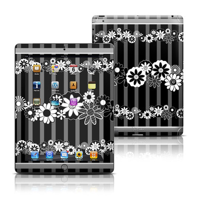 Apple iPad 3 Skin - Black Retro