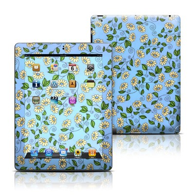 Apple iPad 3 Skin - Blue Daisy