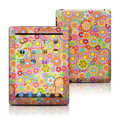 Apple iPad 3 Skin - Bright Ditzy
