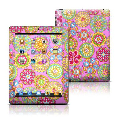 Apple iPad 3 Skin - Bright Flowers