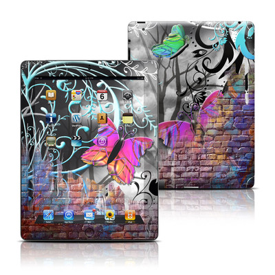 Apple iPad 3 Skin - Butterfly Wall