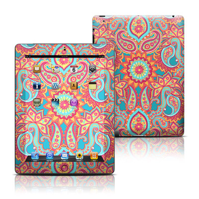 Apple iPad 3 Skin - Carnival Paisley