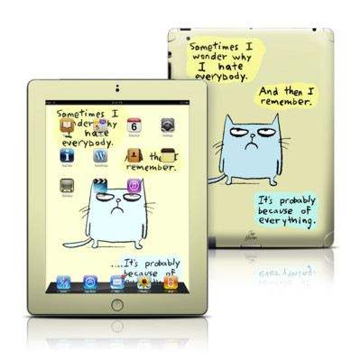 Apple iPad 3 Skin - Catwad Hate