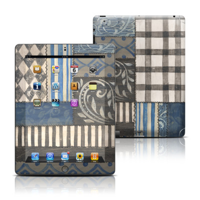 Apple iPad 3 Skin - Country Chic Blue