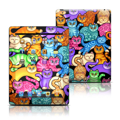 Apple iPad 3 Skin - Colorful Kittens