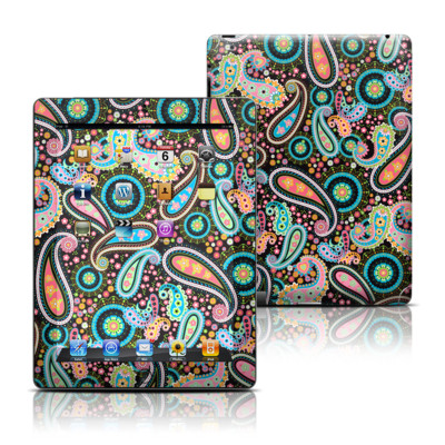 Apple iPad 3 Skin - Crazy Daisy Paisley