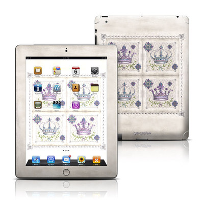 Apple iPad 3 Skin - Purple Crown