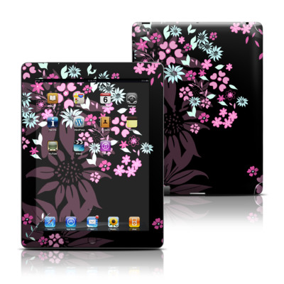 Apple iPad 3 Skin - Dark Flowers