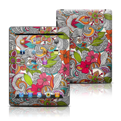 Apple iPad 3 Skin - Doodles Color