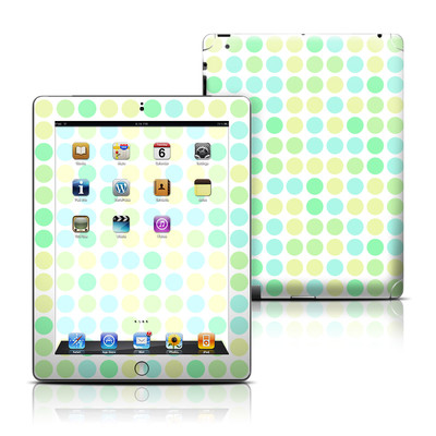 Apple iPad 3 Skin - Big Dots Mint