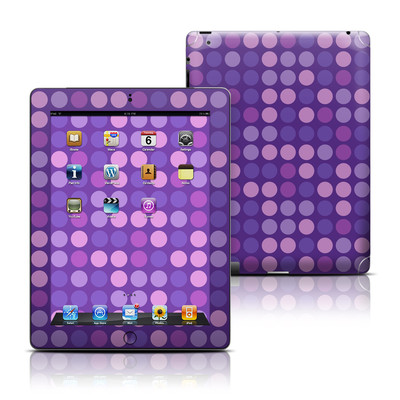 Apple iPad 3 Skin - Big Dots Purple