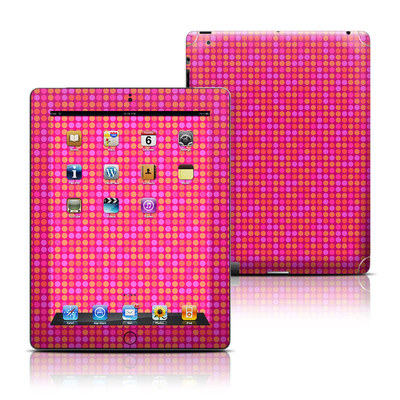 Apple iPad 3 Skin - Dots Pink