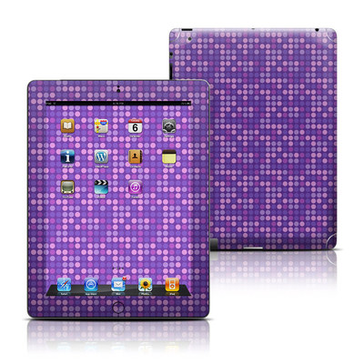 Apple iPad 3 Skin - Dots Purple