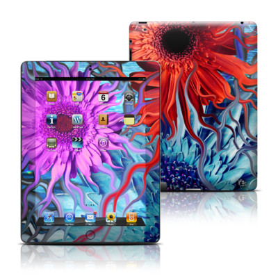Apple iPad 3 Skin - Deep Water Daisy Dance