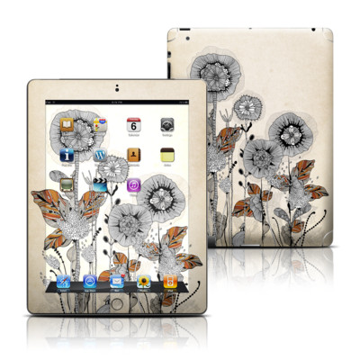 Apple iPad 3 Skin - Four Flowers