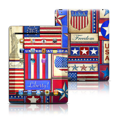 Apple iPad 3 Skin - Flag Patchwork
