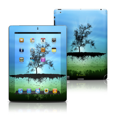 Apple iPad 3 Skin - Flying Tree Blue